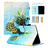 LittleMax Case for Amazon Kindle Paperwhite 1/2/3/4,Colorful PU Leather Kickstand Auto Wake/Sleep Cover for All Amazon Kindle Paperwhite (2012/2013/2015/2016 version)-#2 Two Pineapple