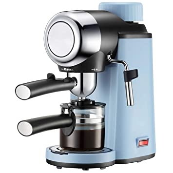 LJZQ Máquina manual de café y vapor con expreso, 800 W, azul claro: Amazon.es: Hogar
