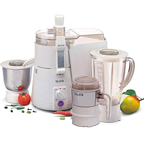Sujata Powermatic Plus + CH 900-Watt Juicer Mixer Grinder (White)
