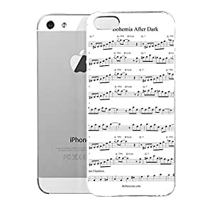 iPhone 5S Case AftarTbeDafk Free Transcription Bohemia After Dark By Oscar Pettiford The American Science Fiction Films Hard Plastic Cover for iPhone 5 Case