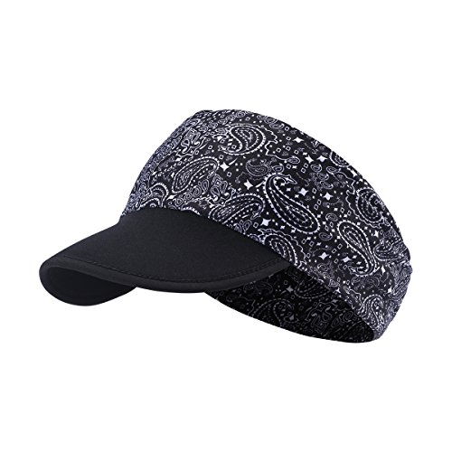 hikevalley Yoga Headband - Unique Design Women Headwrap with UV Sun Protective Soft Visor Brim for Running/Hiking/Golf/Outdoor Sports (EV08)