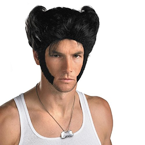 Real Wolverine Costumes (Mens Wig Wolverine Costume X Black Short Men Cosplay Wig Coslive)