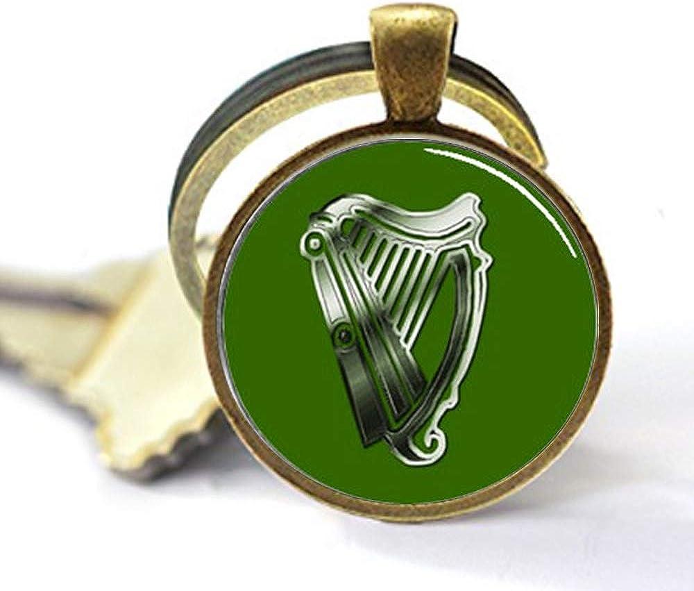 aaaAA St Patrick de Jour Harpe dIrlande fabriqu/é /à la Main Porte-cl/és