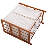 Household Bamboo Laundry Hamper With 2 Bags Compartment Basket Sorter Storage Home Decor Towels Linen Clothes Wash Washing Organizer Bin Bag Modern And Elegant Design Durable