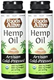 Foods Alive Hemp Seed Oil, Artisan Cold-Pressed, Organic, 8oz (Pack of 2)