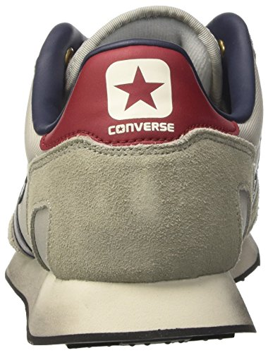 Converse Auckland Racer Distressed OX, Zapatillas Unisex, Gris (Ghost Grey/Moon Struck), 40 EU