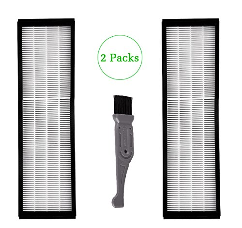 I-clean 2 Packs Filter B For GermGuardian FLT4825, True HEPA Filter Replacement Fit for AC4825 AC4300 AC4800 4900 Series Air Purifiers with A Free Cleaning Brush