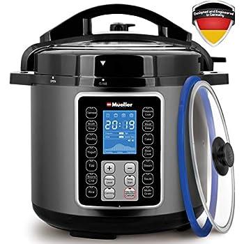 Amazon Com Mueller Pro Series 6q Pressure Cooker Instant