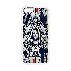 Asking Alexandria Palyer Card Case Cover For SamSung Galaxy S6 Cheap for GirlS Case Cover For SamSung Galaxy S6 [White]