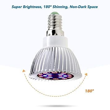Fitbitt light Bombilla LED de Cultivo, iluminación de Alta eficiencia para Plantas acuáticas de jardín