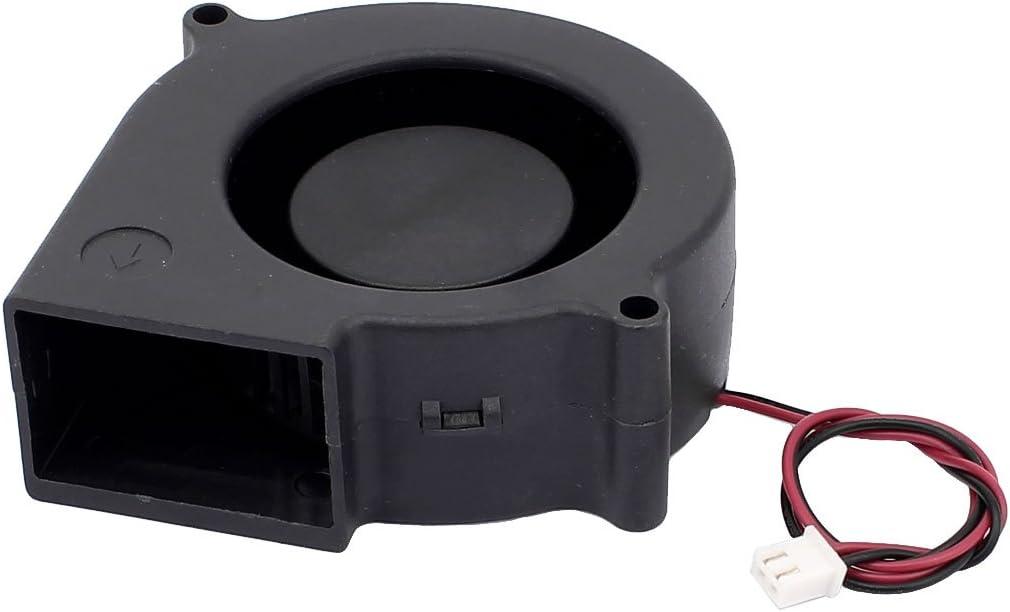 sourcingmap/® DC12V 75mm x 75mm x 30mm DC s resistenza spazzole ventola turbina la ventola di raffreddamento del radiatore