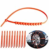 zip ties for car tires - 10pcs Anti-skid Chains Traction Wires Security Chain Protection Tyres Wheels for Cars Trucks