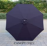 umbrella replacement cover - Formosa Covers 9ft Umbrella Replacement Canopy 8 Ribs in Navy (Canopy Only)
