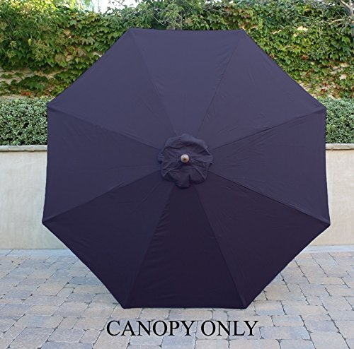 Formosa Covers 9ft Umbrella Replacement Canopy 8 Ribs in Navy (Canopy Only) (Covers Parasol Replacement)