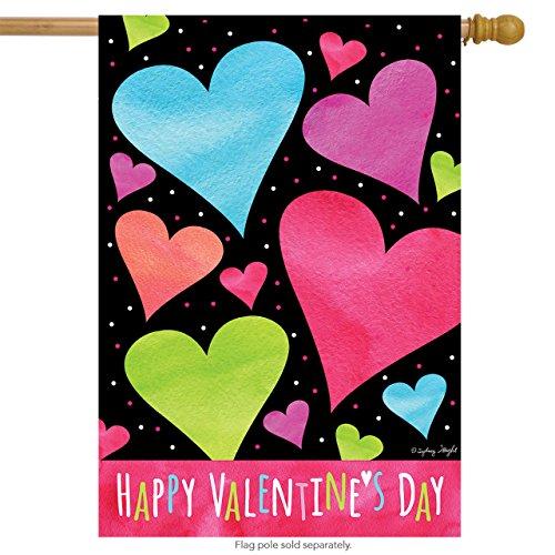 Briarwood Lane Valentine Hearts House Flag Valentine's Day H