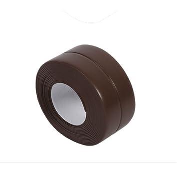 Vwh sellado hogar puerta ventana estufa de gas fregadero lavabo tira adhesiva cinta: Amazon.es: Bricolaje y herramientas