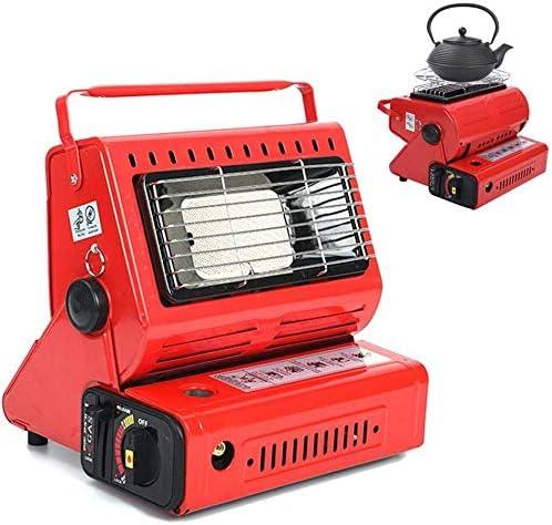 Miwaimao - Calefactor portátil de gas butano para camping al aire libre, estufa de gas y gas externo, calefactor de camping portátil para camping, senderismo, viajes, picnic, color rojo