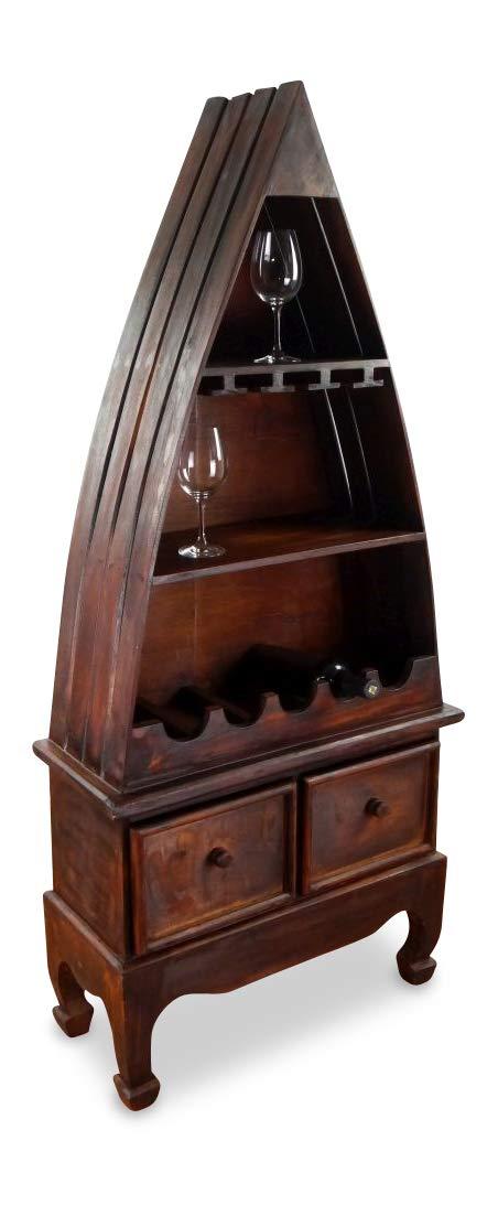 Vinothek Flaschenregal livasia Weinflaschenregal Elefanten 100cm Weinschrank