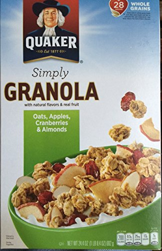- Quaker Simply Granola Cereal, Apple Cranberry Almond, 24.4 Oz