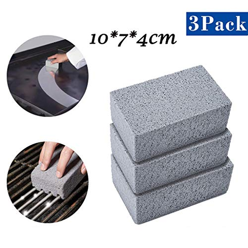 ❤️Jonerytime❤️Grill Brick,Griddle/Grill Cleaner, BBQ Barbecue Scraper Griddle Cleaning Stone Gray