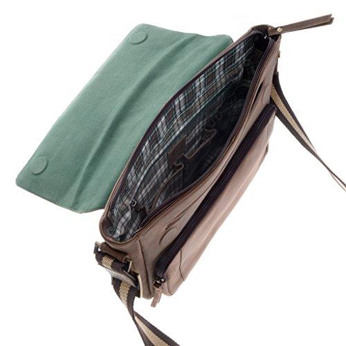 Dudu - Sac porté épaule en cuir - Vintage - Geronimo - Marron foncé - Homme