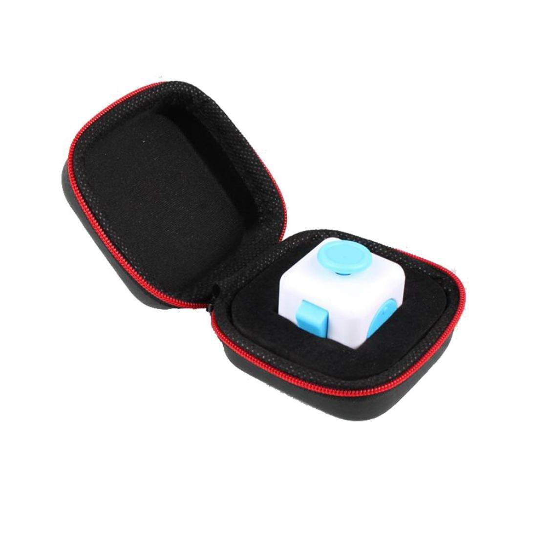 Fulltime®Fidget Cube Anxiété Stress Relief Focus Dice Bag Box Carry Case Packet Fulltime® toys11