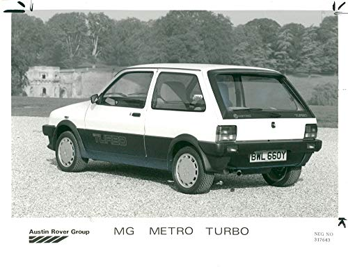 - Vintage photo of MG Metro Turbo.