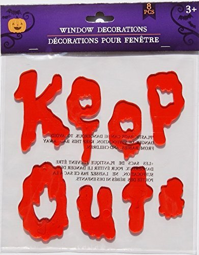 Clings - Keep Out and Blood Spatter - 8 Piece (Halloween Gel)