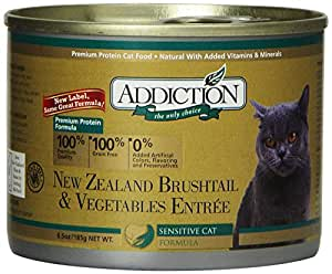 Addiction New Zealand Brushtail & Vegetables Entrée Grain Free Canned Cat Food, 6.5 oz. (24-pack)