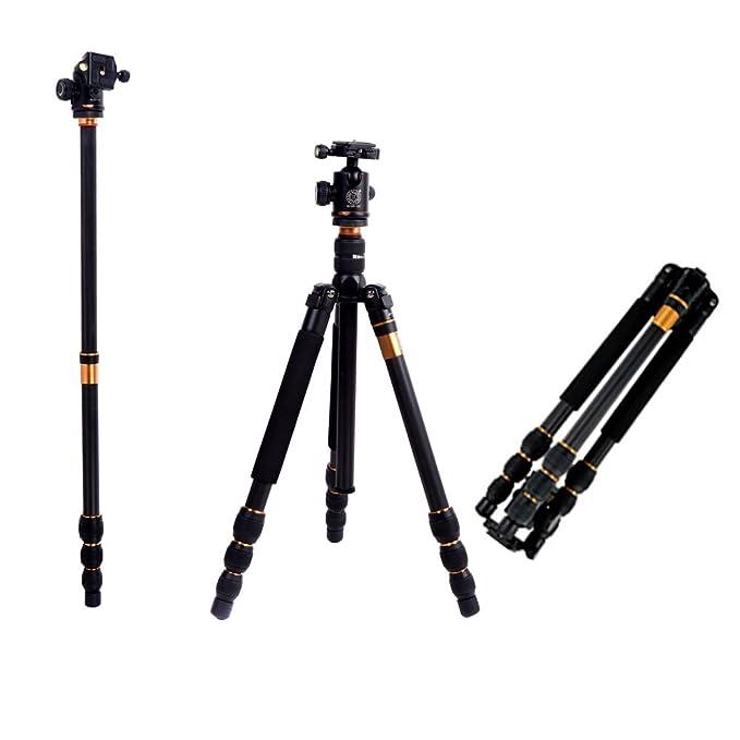 150 opinioni per Andoer Q476 Pro SLR Camera Tripod monopiede+Ball Head Max height: 1585mm e Load