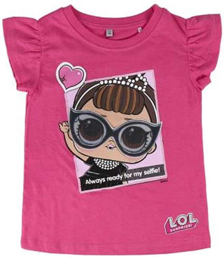 L.O.L. Surprise! Camiseta Original para Niñas con Las Muñecas LOL Rocker, BFF Fancy & Fresh, Diva, M.c Swag, It Baby, Leading Baby | Top Infantil De Verano De Algodón | A