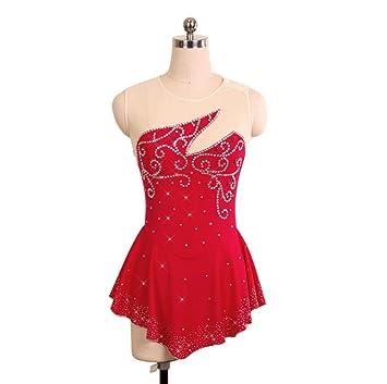 Heart&M Vestido de Patinaje Artístico Vestido de Patinaje sobre Hielo para Niñas Vestido de Mujer Diseño