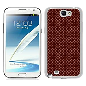 Galaxy Note 2 Case,Louis Vuitton 06 White Samsung Galaxy Note 2 N7100 Screen Cover Case Luxurious and Durable Design