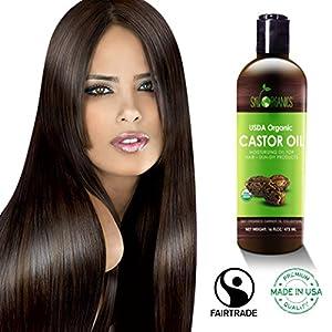 Organic Castor Oil By Sky Organics 16oz: Cold-Pressed, 100% Pure, Hexane-Free Castor Oil - Moisturizing & Healing, For Dry Skin, Hair Growth - For Skin, Hair Care, Eyelashes - Caster Oil