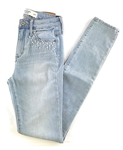 Abercrombie & Fitch Women's High Rise Super Skinny Embellished Jeans 00 ()