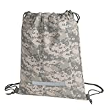 navy digital camo backpack - Heavy Duty Drawstring Backpack Digital Camouflage Army Navy Military Sack Bag (Pack of 1)