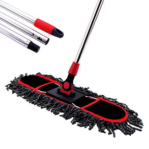 Long Hardwood Handle - Dust Mop, MEIBEI Floor mop with Long Handle - 50.5