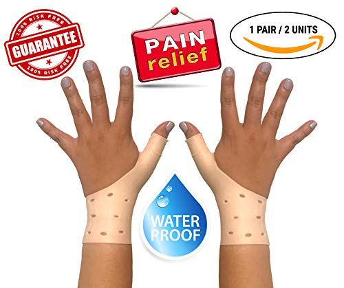 2 Units Breathable Gel Wrist & Thumb Braces Support Gloves for Right and Left Hand, RELIEVES Wrist & Thumb Pain from Carpal Tunnel, TENDONITIS, Arthritis, Rheumatism & More