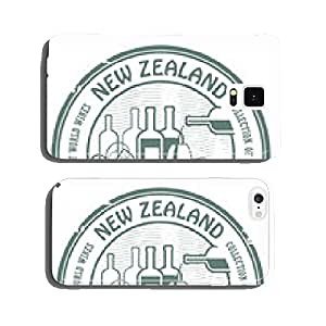 Grunge rubber stamp with words New Zealand, Fine Wines, vector cell phone cover case Samsung S6
