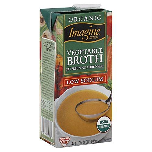 Imagine Organic Vegetable Broth, Low Sodium, 32 oz, 2 pk