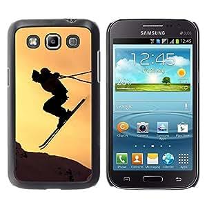 Be Good Phone Accessory // Dura Cáscara cubierta Protectora Caso Carcasa Funda de Protección para Samsung Galaxy Win I8550 I8552 Grand Quattro // Sunset Sky Jump Mountains