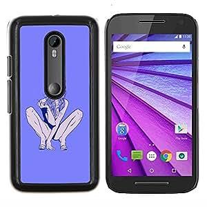 "Be-Star Único Patrón Plástico Duro Fundas Cover Cubre Hard Case Cover Para Motorola Moto G (3rd gen) / G3 ( Stripper Muerte Púrpura mujer Piernas"" )"