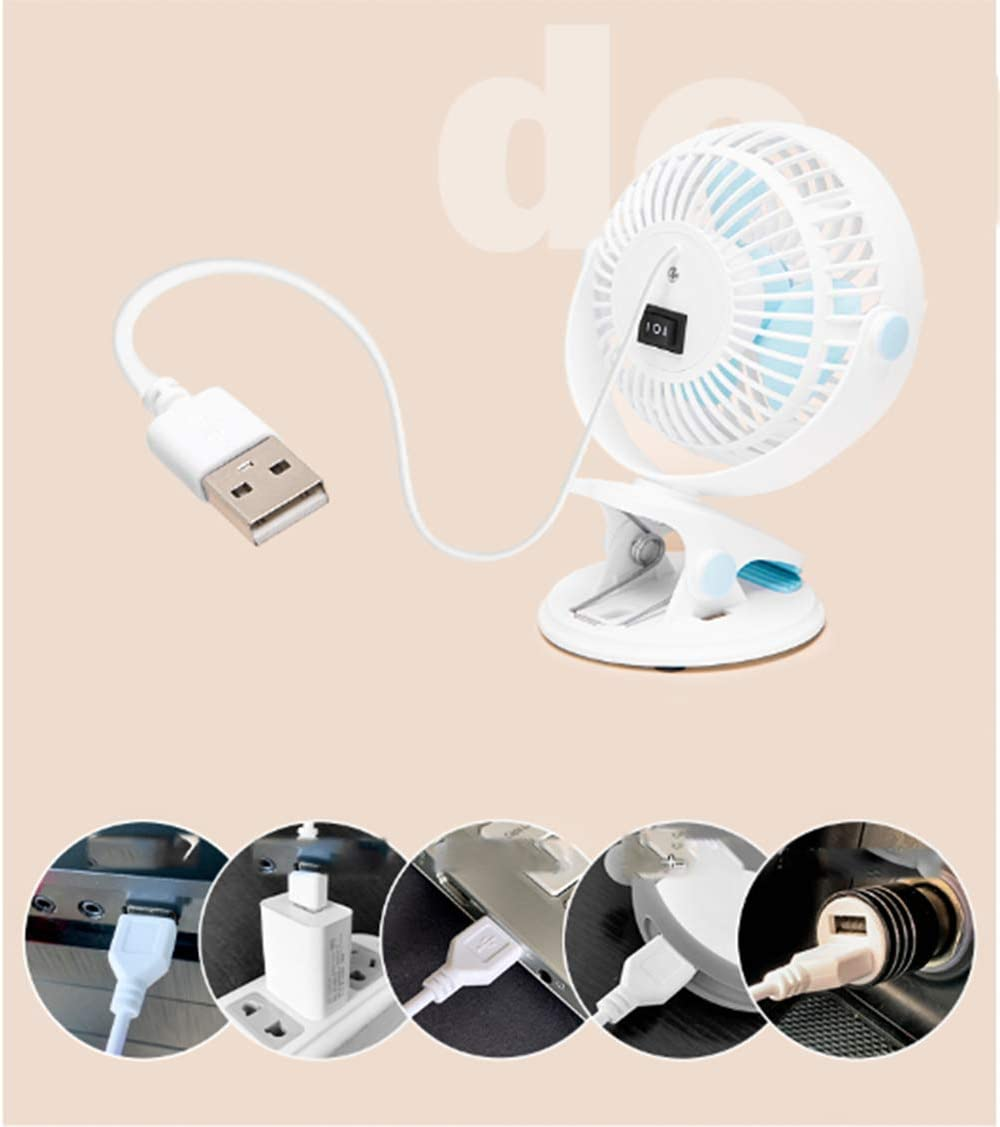 GXMTB Mini Small Fan Mute Office Table Portable Student Dormitory Bed Electric USB Small Charging Fan