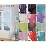 """John Aird Woven Voile Tab Top Curtain Panels - Free Tieback Included (White, 60"""" Wide x 90"""" Drop)"""