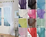 John Aird Woven Voile Tab Top Curtain Panels - Free Tieback Included (White, 60' Wide x 48' Drop)