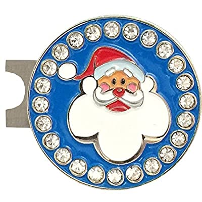 Giggle Golf Bling Santa Golf Ball Marker With A Standard Hat Clip