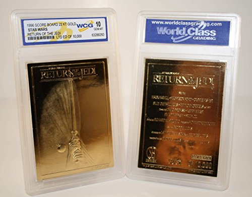 - Star Wars RETURN OF THE JEDI Movie Poster 23KT Gold Card - Graded GEM MINT 10