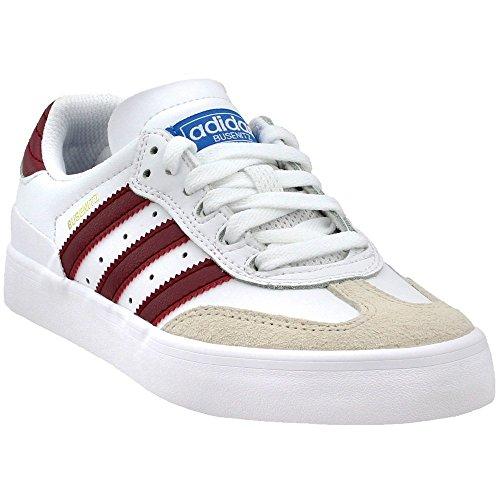 adidas Busenitz Vulc RX (White/Collegiate Burgundy/Bluebird) Men's Skate Shoes-11.5 ()