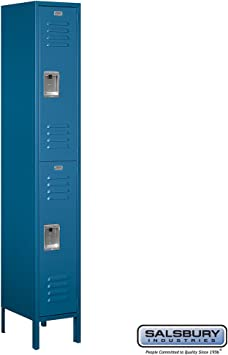 Unassembled Triple Tier 1 Wide Standard Locker Color Blue Size 78 H x 12 W x 12 D