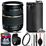 Tamron Zoom Wide Angle-Telephoto AF 28-75mm f/2.8 XR Di LD Aspherical (IF) Autofocus Lens for Canon EOS + 32GB Class 10 High Speed Memory Card + UV Filter + Lens Cap Holder